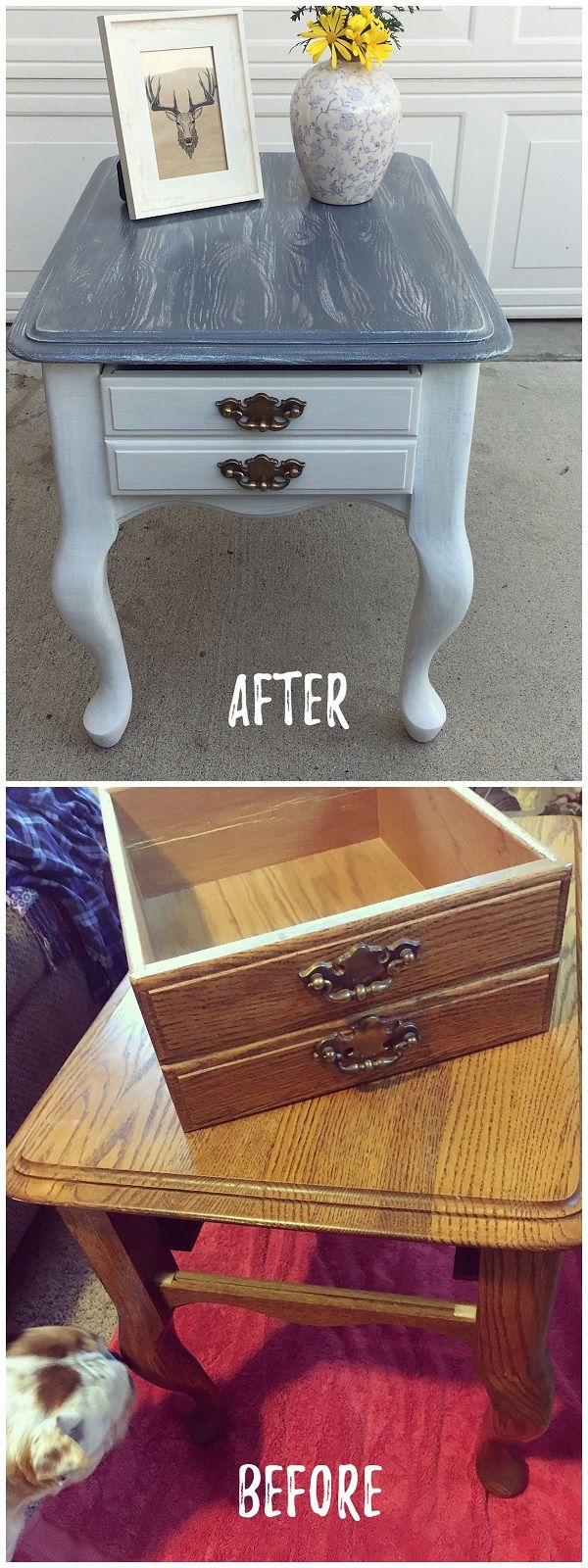 Check out this #DIY #FleaMarket flip of a nightstand #HomeDecorIdeas #RusticDecor @istandarddesign