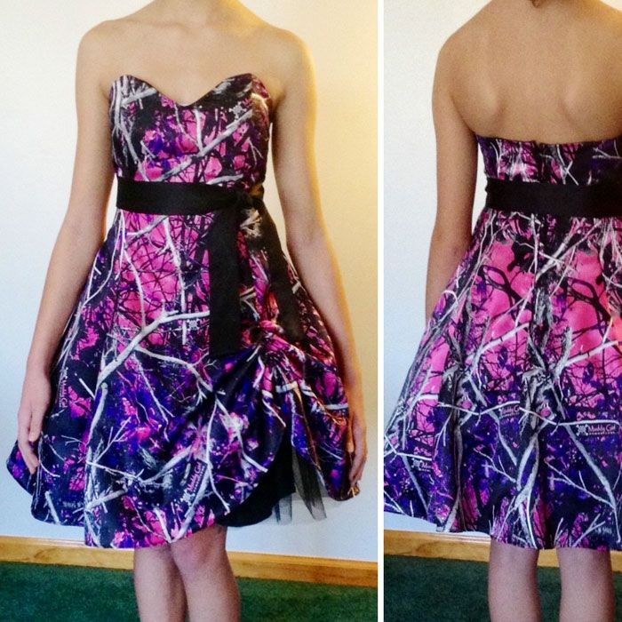 Muddy Girl Camo Homecoming Dress