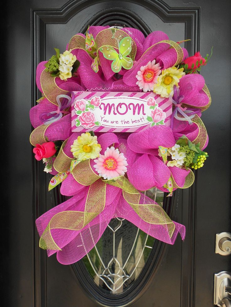 12 Best Mother S Day Wreaths Decor Images On Pinterest