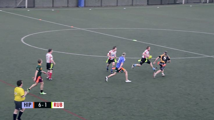 Tag Rugby Mens Open Round 4 (Spring 2014) -  The Hippos v Rub & Tag