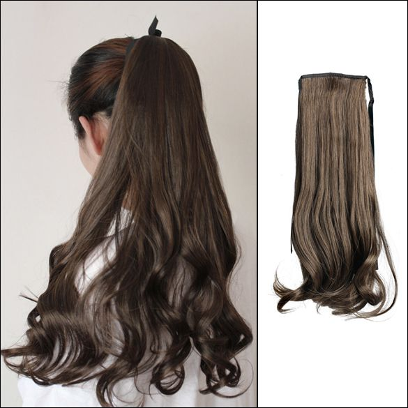 Fashion Attractive Long Curly Wavy Ponytail Wigs Pony Hair Hairpiece Extension