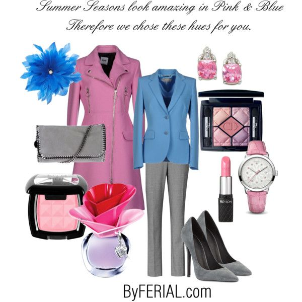 """Pink & Blue"" by byferial on Polyvore"