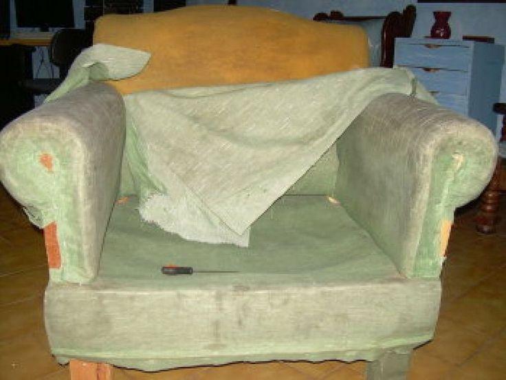 17 mejores ideas sobre tapizar sillones en pinterest - Como tapizar un sofa ...