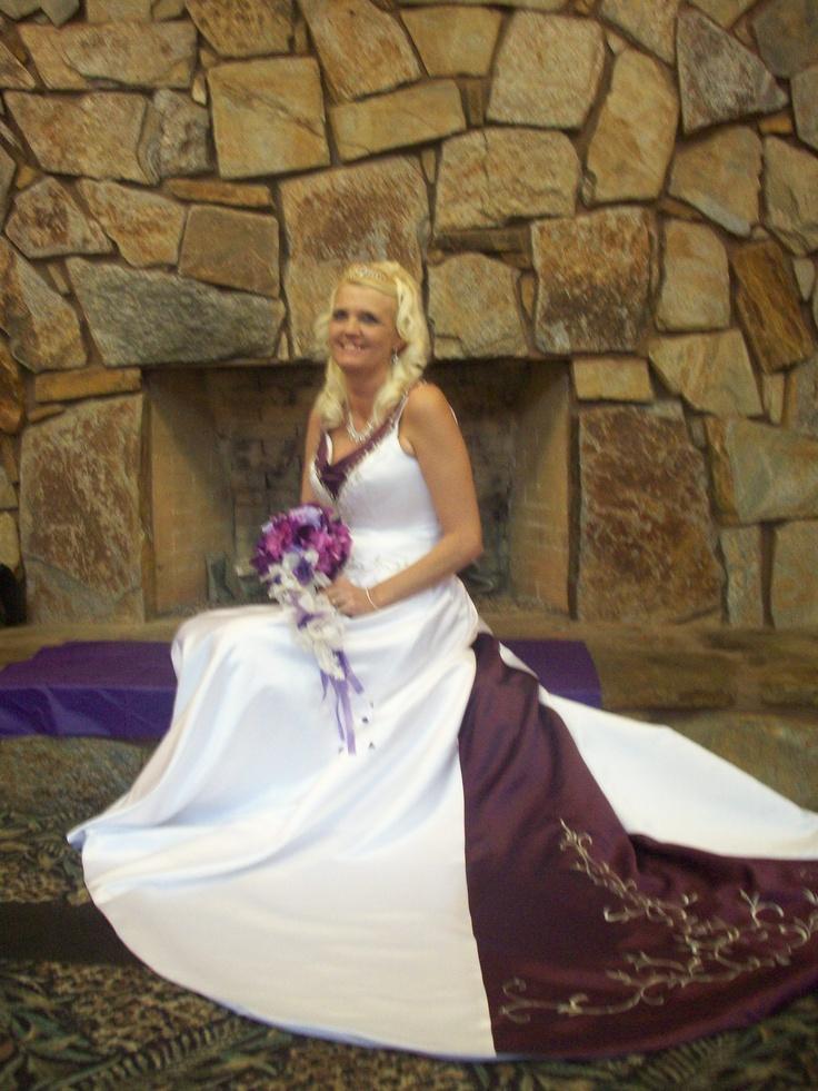 Wedding Dresses Color Purple : Wedding dress with color purple accents ideas