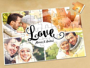 Gestalte dein individuelles Puzzle mit deinem eigenen Bild. Das Puzzle eignet sich auch ausgezeichnet um es in mehreren Schritten zu verschenken. Beispielsweise einen Teil bei der Trauung auf dem Standesamt und den anderen Teil nach der kirchlichen Hochzeit. #Personello