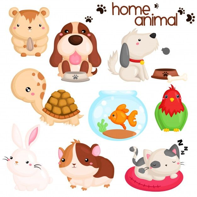 Inicio Mascotas Animales Premium Vector Freepik Vector Perro Dibujos Animados Pescado Pajaro Animal Clipart Free Cute Animal Clipart Animal Clipart