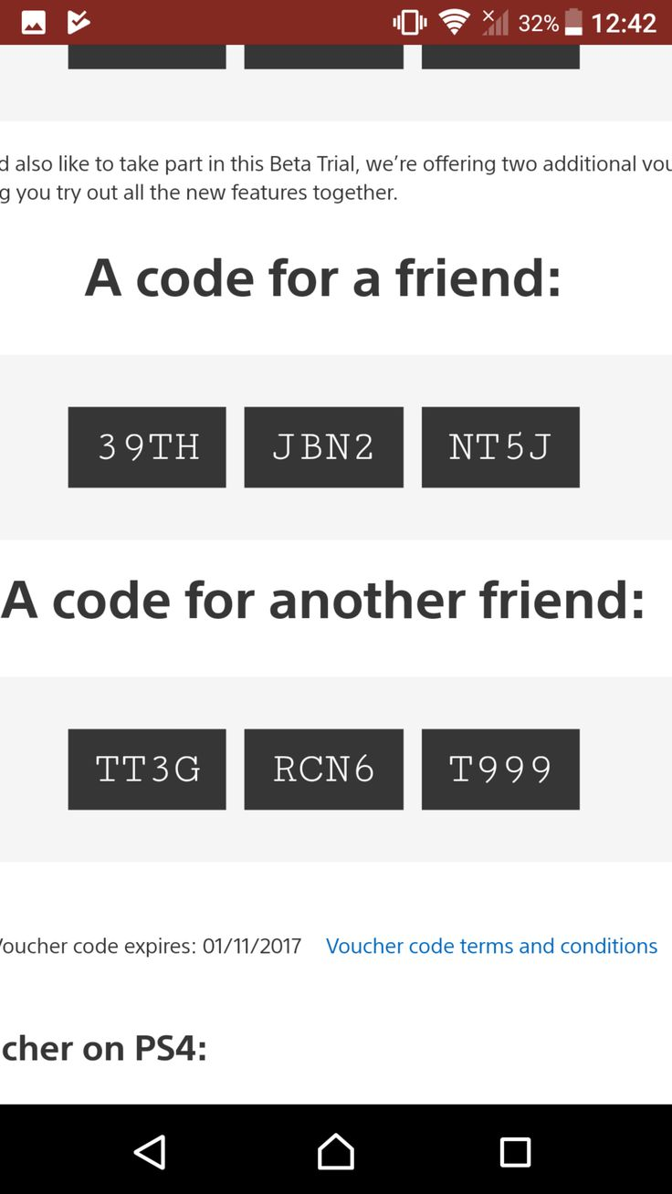 [Screenshot] 2 codes for the ps4 beta #Playstation4 #PS4 #Sony #videogames #playstation #gamer #games #gaming