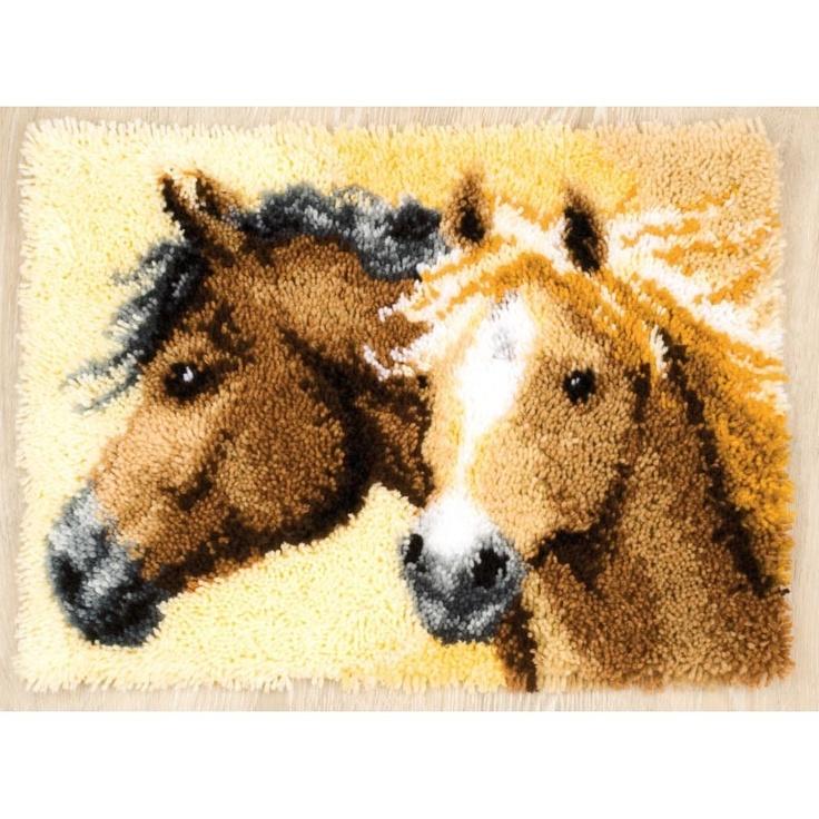 Horses Latch Hook Rug