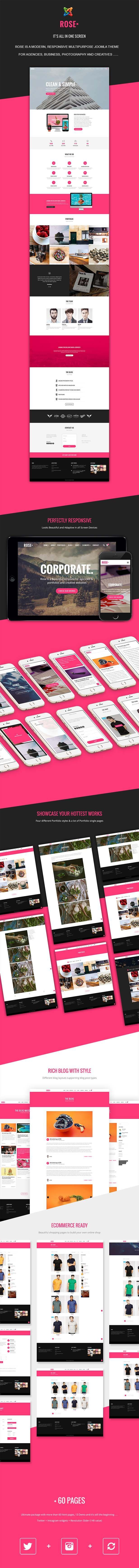 Rose - Multipurpose Responsive One Page Joomla Theme #joomla #theme #template #themeforest #envato #windstripethemes #multipurpose #business #shop #onepage