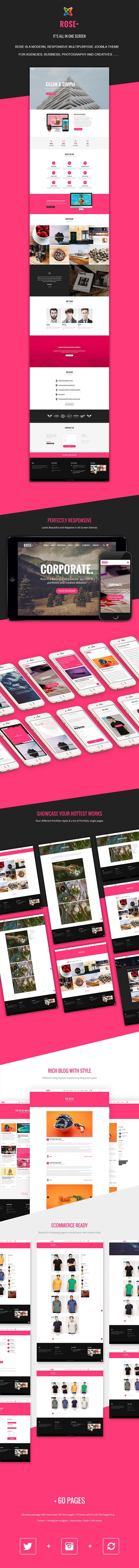Rose - Multipurpose Responsive One Page Joomla Theme #joomla #theme #template #themeforest #envato #windstripethemes #multipurpose #business #shop #onepage