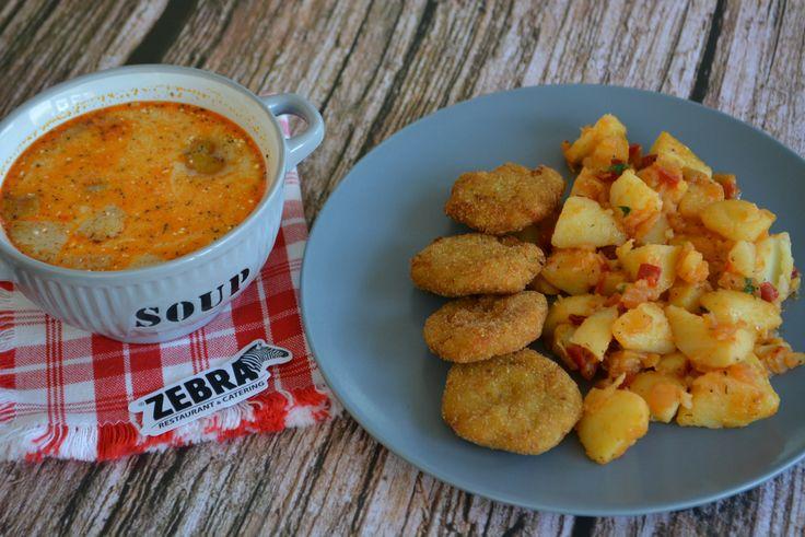 Supă de mere 400 ml Chiftele din legume cu cartofi ţărăneşti 100/250 g