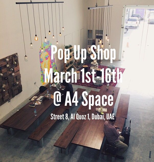 We're so excited for our pop up shop #a4space #popupshop #gallery #arts #mydubai