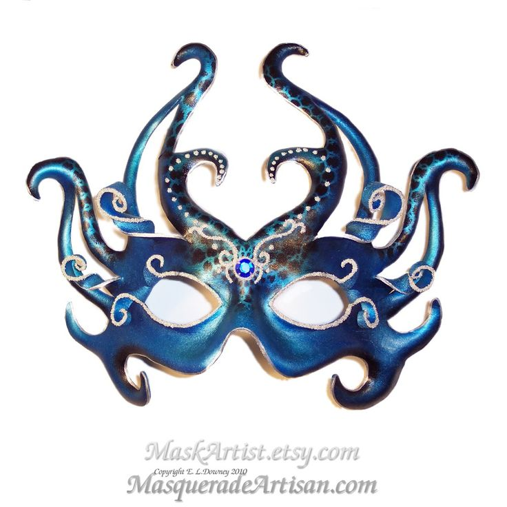 Ocean Goddess Leather Mask