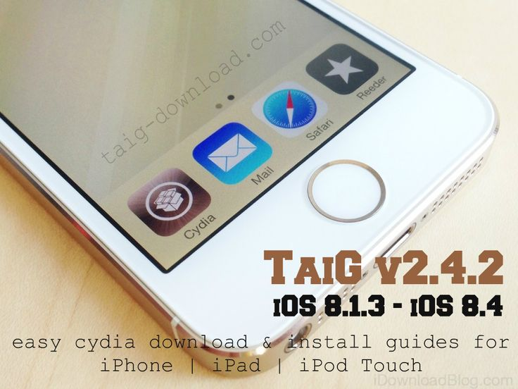 TaiG 2.4.2 download released for get untethered iOS 8.4 Jailbreak. TaiG 2.4.2 download available for public now. TaiG 2.4.2 optimize jailbreak process and improve the process's stability. Taig 2.4.2 also Integrate the latest Cydia 1.1.23. TaiG 2.4.2 iOS 8.4 Cydia download compatible with all iOS 8 version running iPhone, iPad and iPod Touch devices. Taig Jailbreak 2.4.2 also supports Windows-only. so you'll need to use a Windows machine or a virtual Machine to Download Cydia iOS 8.4 devices.