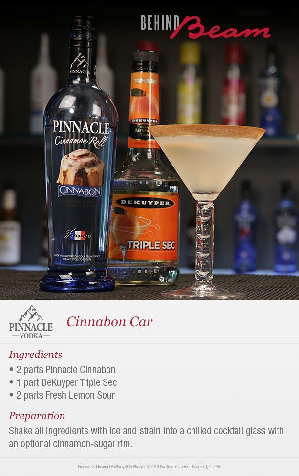 Sip a sweet recipe #BehindBeam—the Pinnacle Vodka Cinnabon Car!