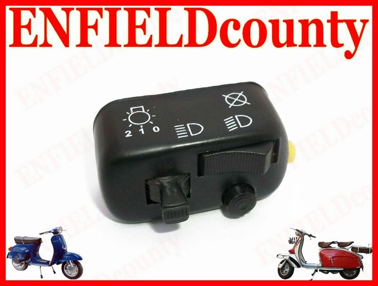 BRAND NEW VESPA LIGHT, HORN, DIPPER & ENGINE CUT OFF SWITCH 6 VOLT VESPA MODELS