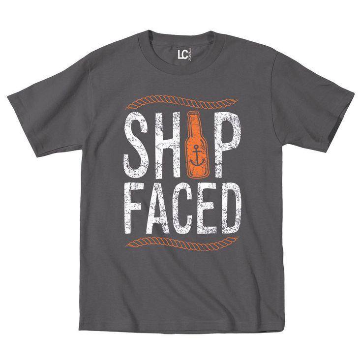Ship Faced Anchor Nautical Sailor Rope Ocean Knot Novelty Drinking Mens T-Shirt #USAScreenPrintDirect #GraphicTee