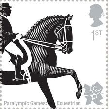 British Postage Stamp - Paralympic Games 2012 - Equestrian.