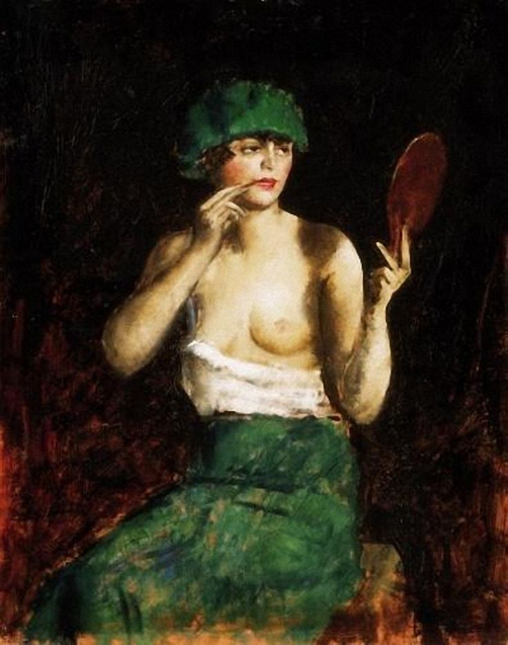 Andor Basch (Hungarian, 1885-1944) Woman making up. 1922 г.
