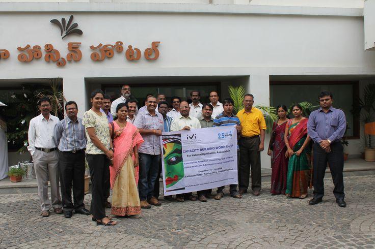 Participants at the IVI-NVG capacity building workshop, Rajahmundry. #optometry