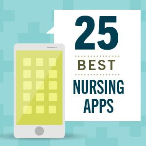 25 Nursing Apps for school, diagnosis, getting organized and even managing your schedule #nursing #mhealth