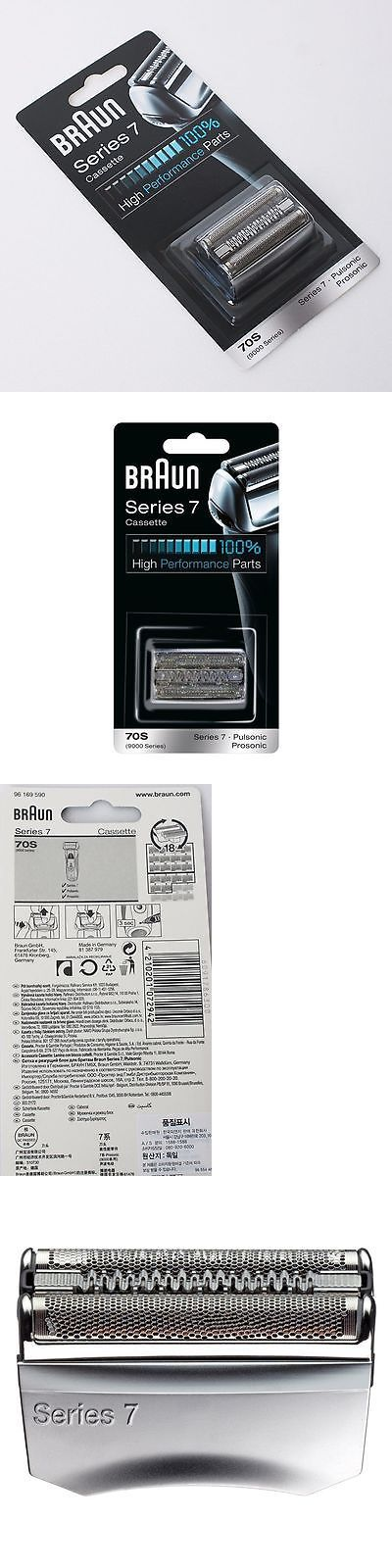 Shaver Parts and Accessories: Braun Replacement Cutter Foil Set 70S 9000 Series Silver 5671 5673 5674 5692 A_R -> BUY IT NOW ONLY: $38.99 on eBay!