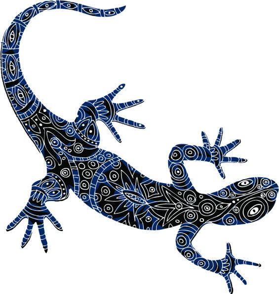 lizard tattoo design idea beautiful spirit animal and red green. Black Bedroom Furniture Sets. Home Design Ideas