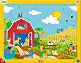 Noris Spiele 606038028 - Sesamstraße Rahmenpuzzle Bauernhof, 16 Teile