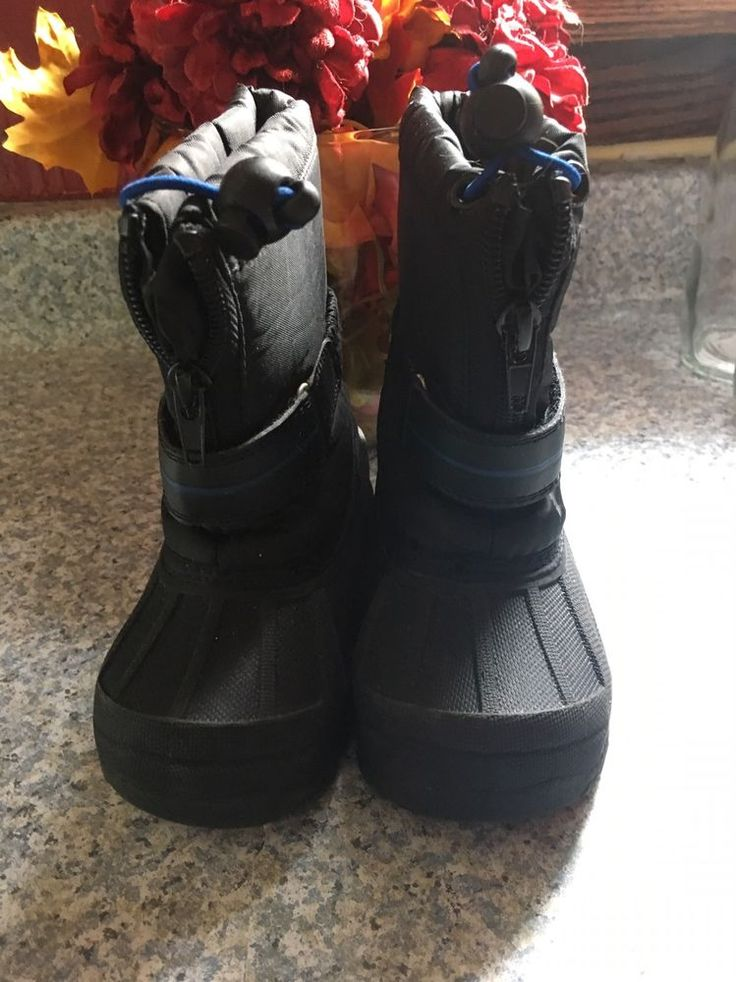 Toddler Snow Boots, Koala Kids Snow Boots Black, Size 6, Worn Once  | eBay