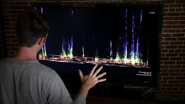 Gesture-based earthquake data visualization using g-speak, Sandbox and a low-cost depth sensor. / by Oblong