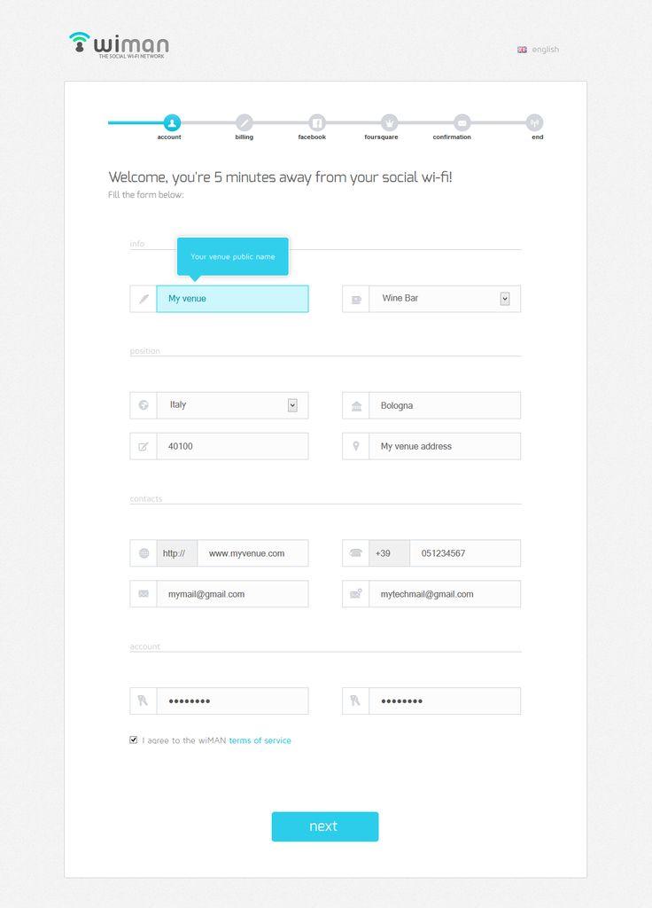 192 best forms images on Pinterest Colors, Material design - registration forms