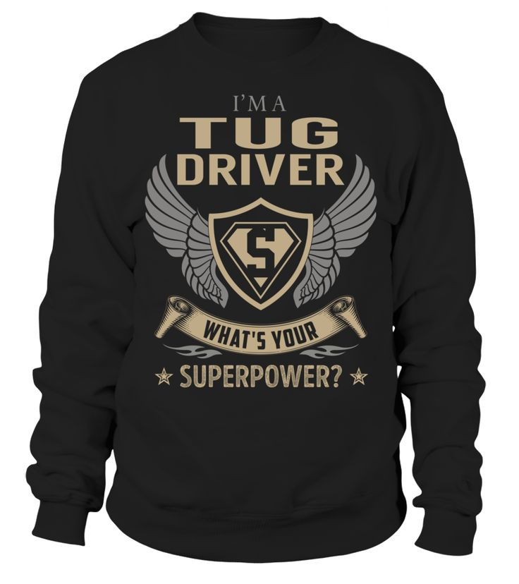 Tug Driver Superpower Job Title T-Shirt #TugDriver