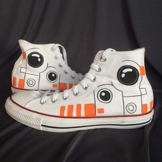Starwars BB8 Converse Sneakers Shoes