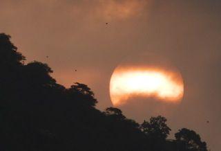 Sun rolling down the hill in Leblon, Rio de Janeiro #Brazil