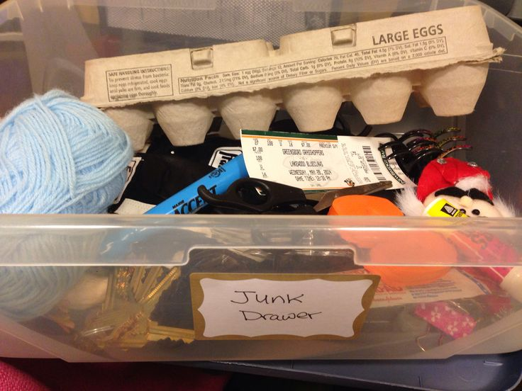 """Junk Drawer - an activity where the person with dementia can """"help you find items that you've lost in the drawer."""" Make a list of what's in the drawer, much like you would a word search puzzle, and ask the person to help you locate the items."""