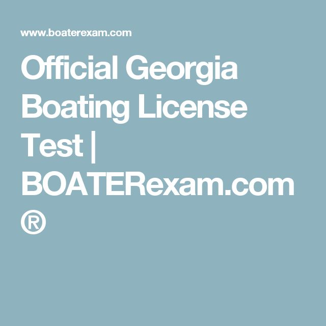 Official Georgia Boating License Test | BOATERexam.com®