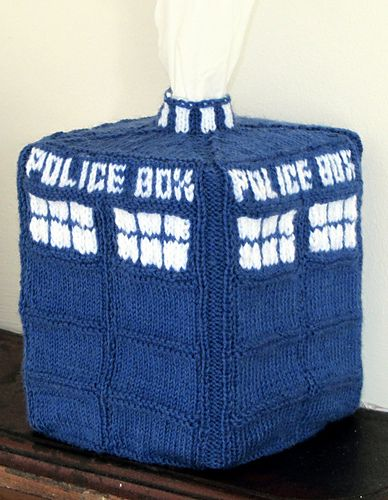 TARDIS tissue box cover pattern by Charla Henney