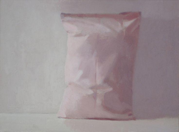 "Saatchi Online Artist: Alex Hanna; Oil, 2011, Painting ""Pink Pillow 3"""