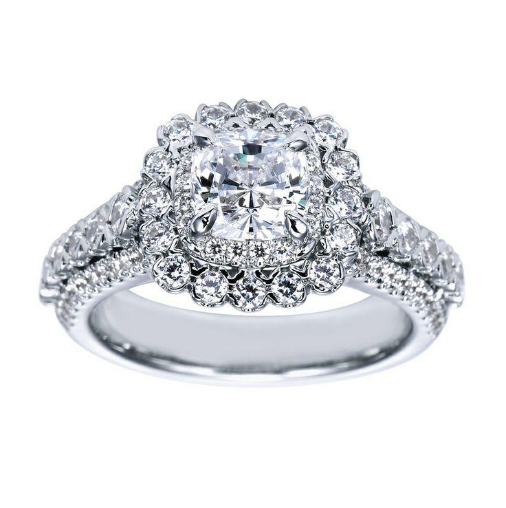 Vintage Cushion Cut Halo Engagement Ring Designs
