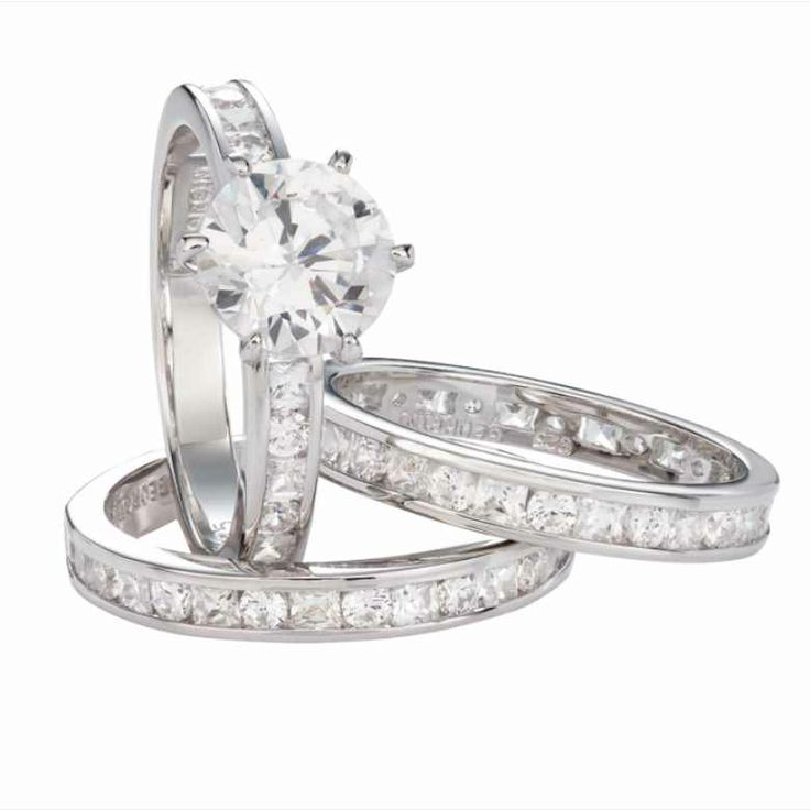 """Georgini sterling silver rhodium plated """"Marry Me In Moscow"""" set of three wedding rings available for AU$269.00 only."""
