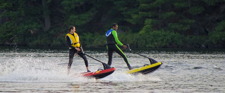 It's not a jet-ski, and it's not a traditional surfboard. It is the combination of technology and the desire to surf.