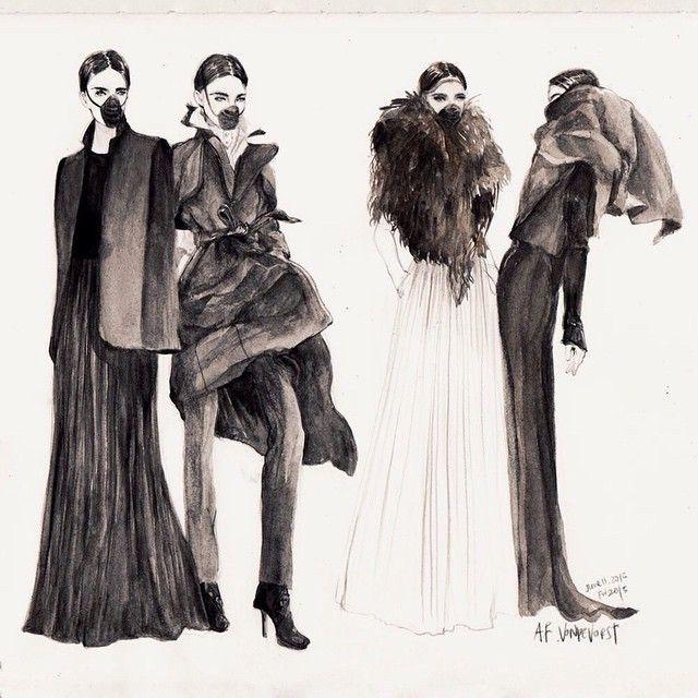 More @afvandevorst #afvandevorst #fw2015 #fashion #fashionillustration…