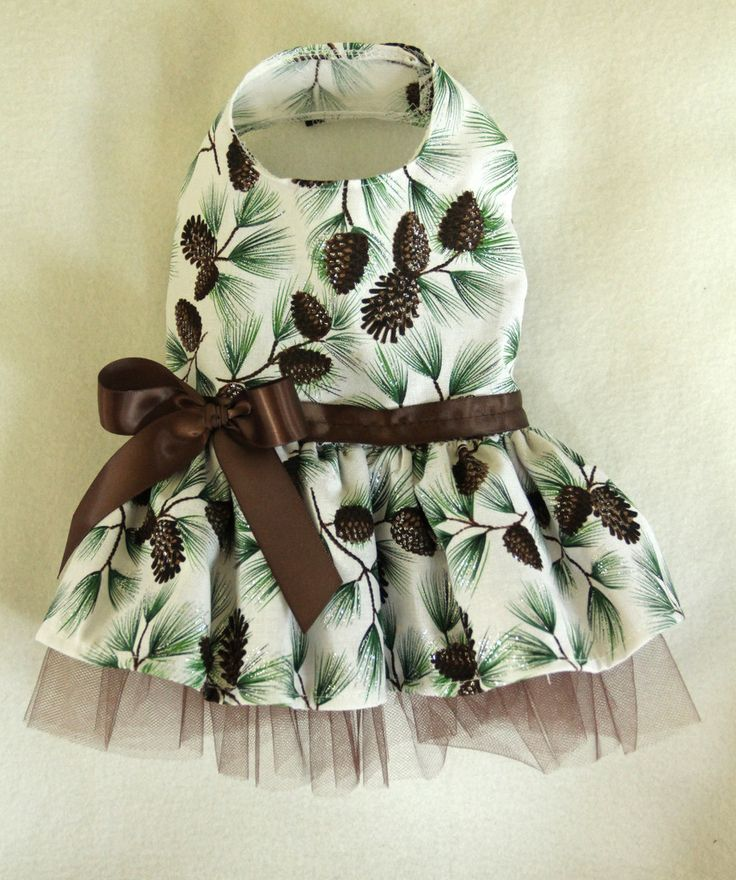 Winter Pinecone Dress for Dogs