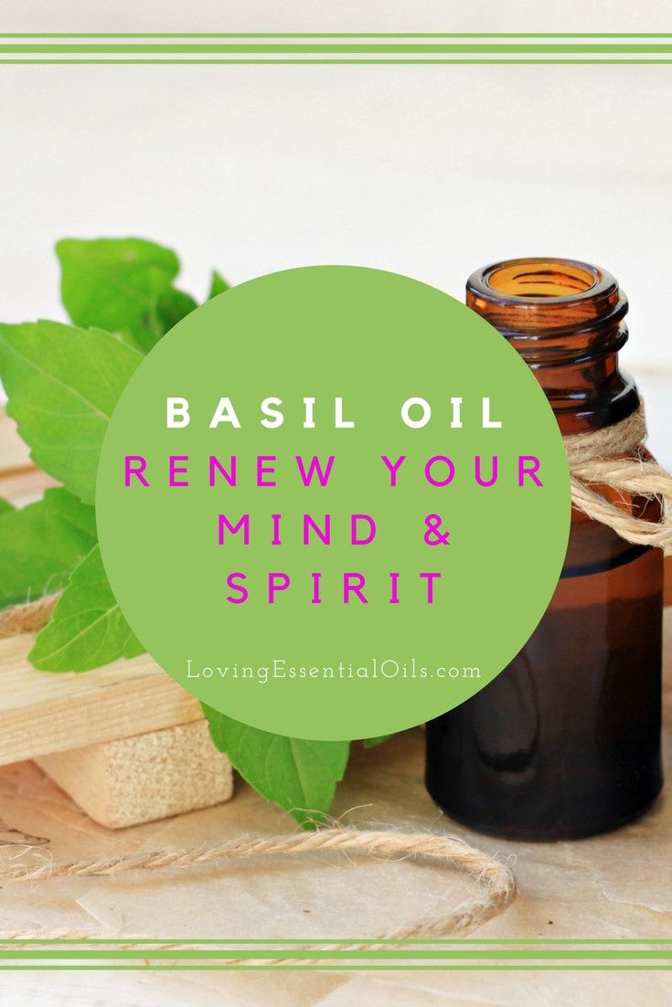 Basil Essential Oil Renew Your Mind & Spirit | For Fatigue, Stress, Anxiety - Diffuse or Apply to Bottom of Feet | Essential Oils Tips & Uses
