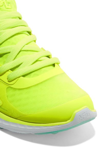 Athletic Propulsion Labs - Prism Neon Mesh Sneakers - Bright yellow - US7.5