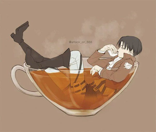 That S How I Drink My Tea With Sugar And A Pinch Of Levi Height Joke Not Intended Attack On Titan Anime Attack On Titan Levi Attack On Titan