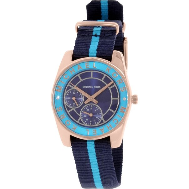 Michael Kors Women's MK2402 Blue Cloth Quartz Watch