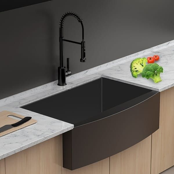 Overstock Com Online Shopping Bedding Furniture Electronics Jewelry Clothing More Black Kitchen Sink Farmhouse Sink Kitchen Matte Black Kitchen