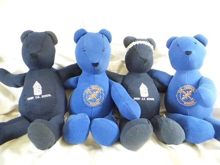 Handmade teddies from school jumpers https://www.facebook.com/Tedbearlane