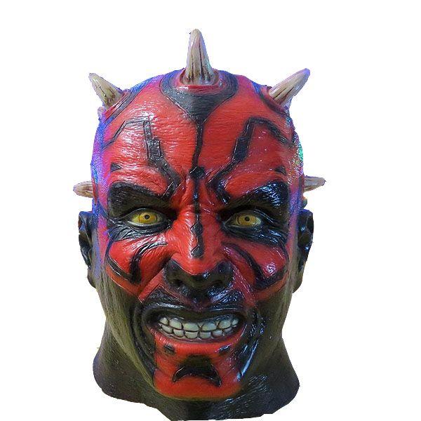 X MERRY Darth Maul maske kostüm von party horror latex vollen kopf schablonen…